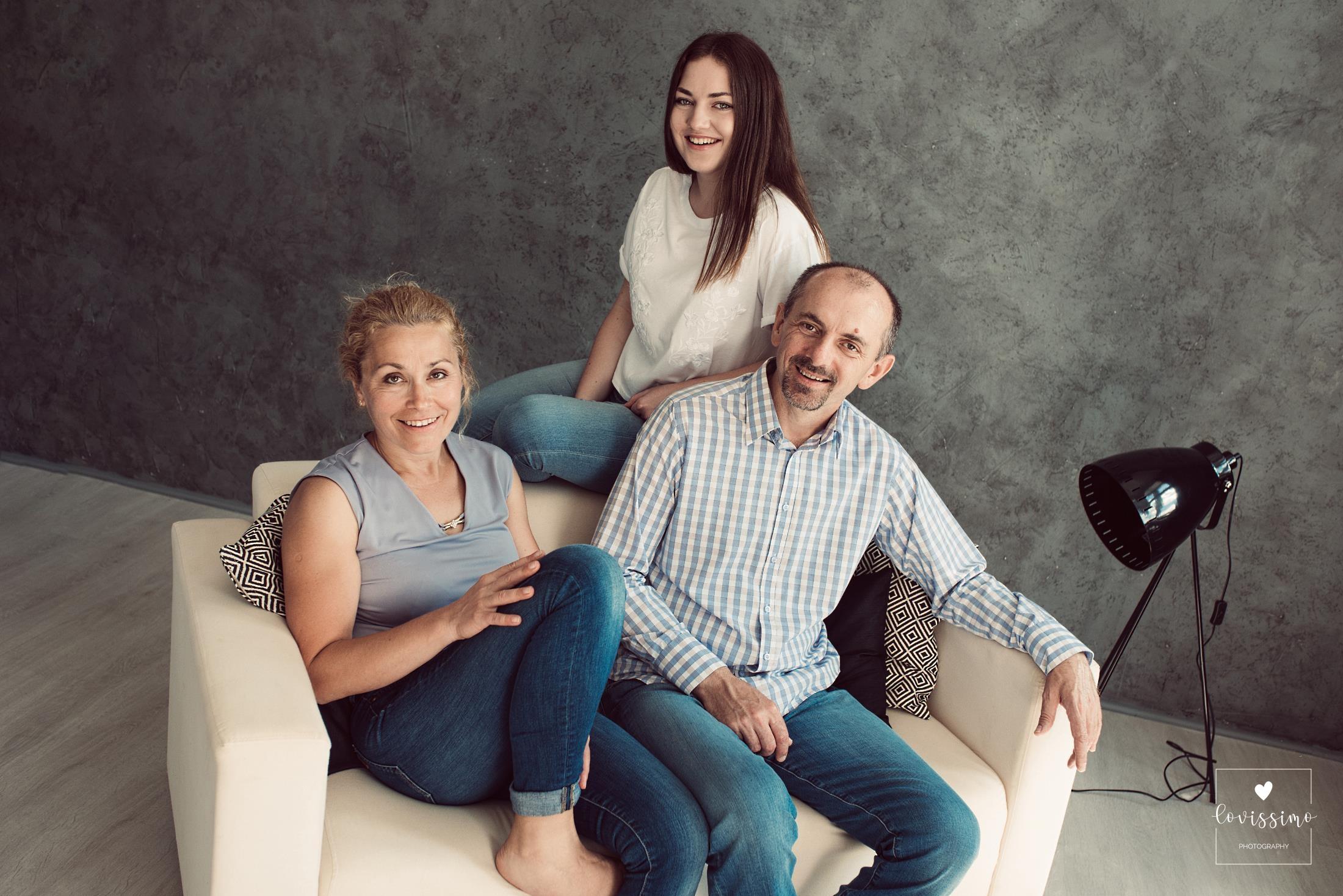 Sesja rodzinna w studio. Fotograf rodzinny Rzeszów, Dębica, Jarosław