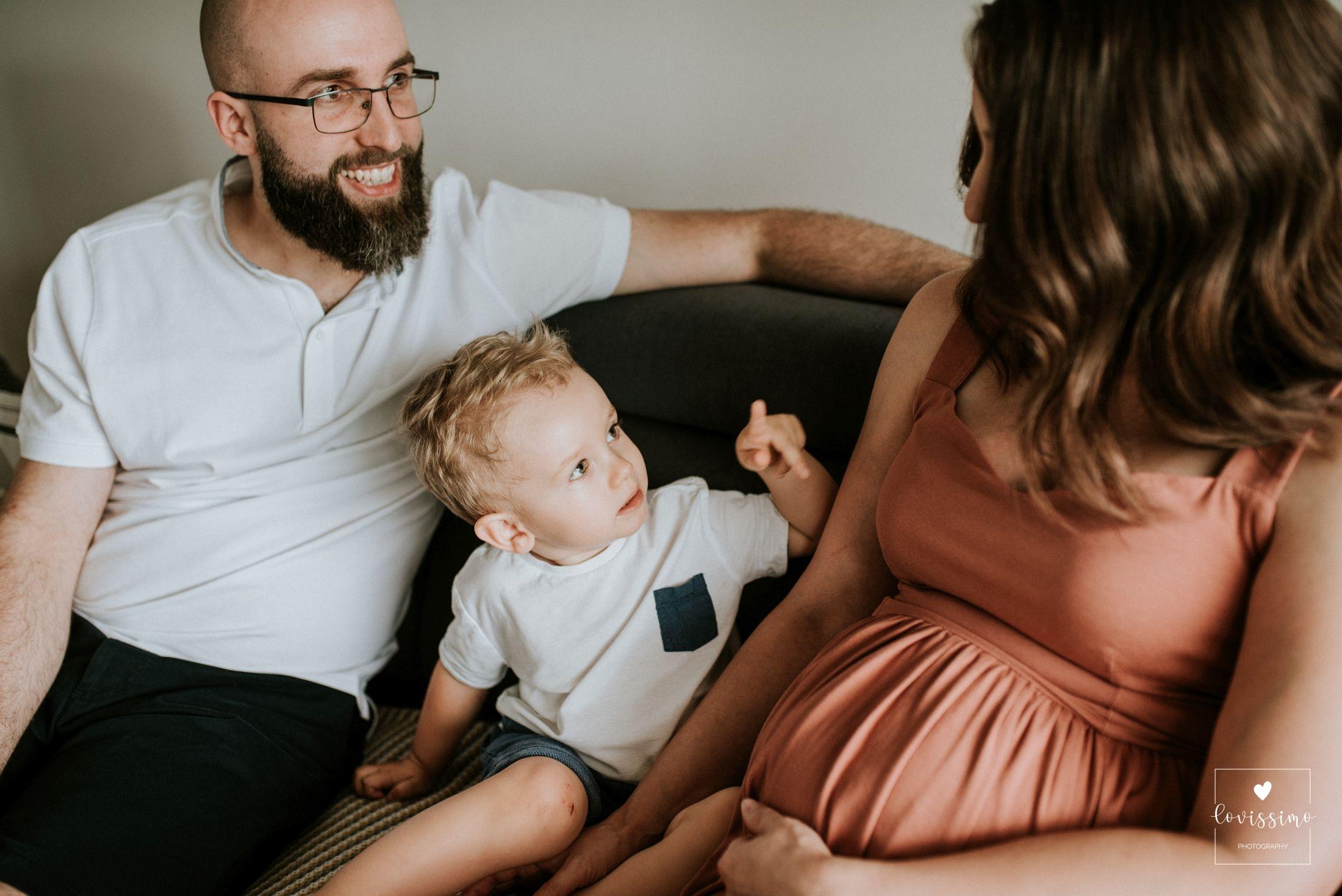 Sesja ciążowa w domu klienta, sesja lifestylowa Rzeszów