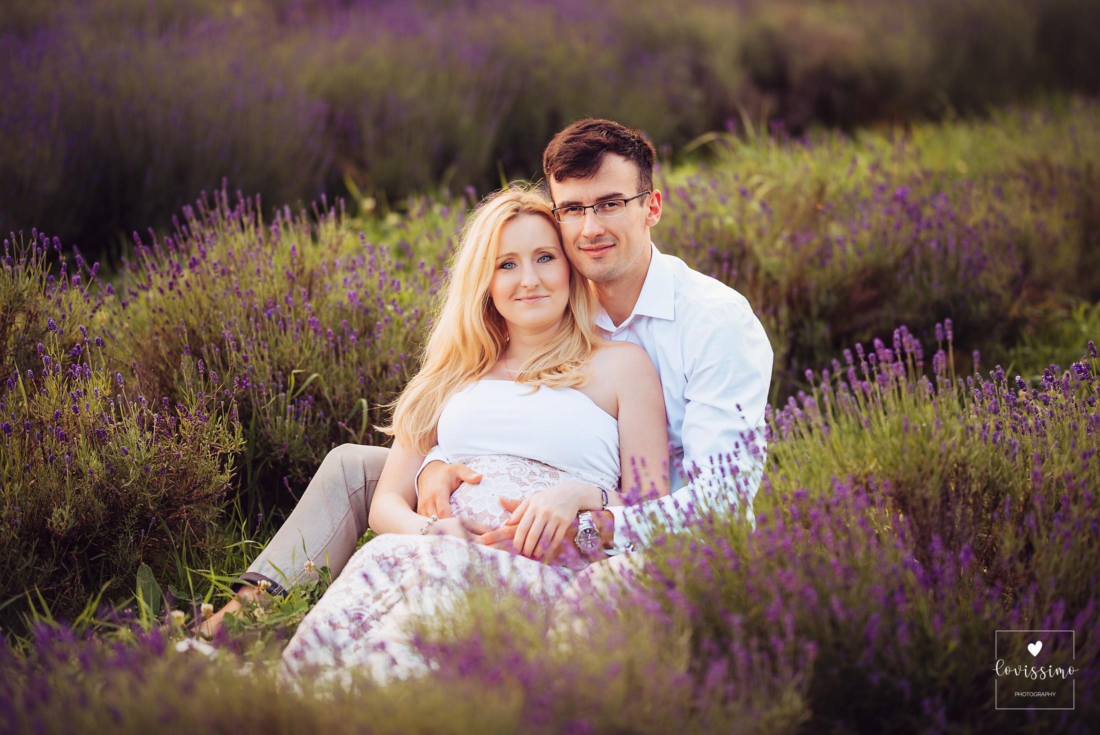 Sesja ciążowa w lawendzie, lawendowe pole Rzeszów