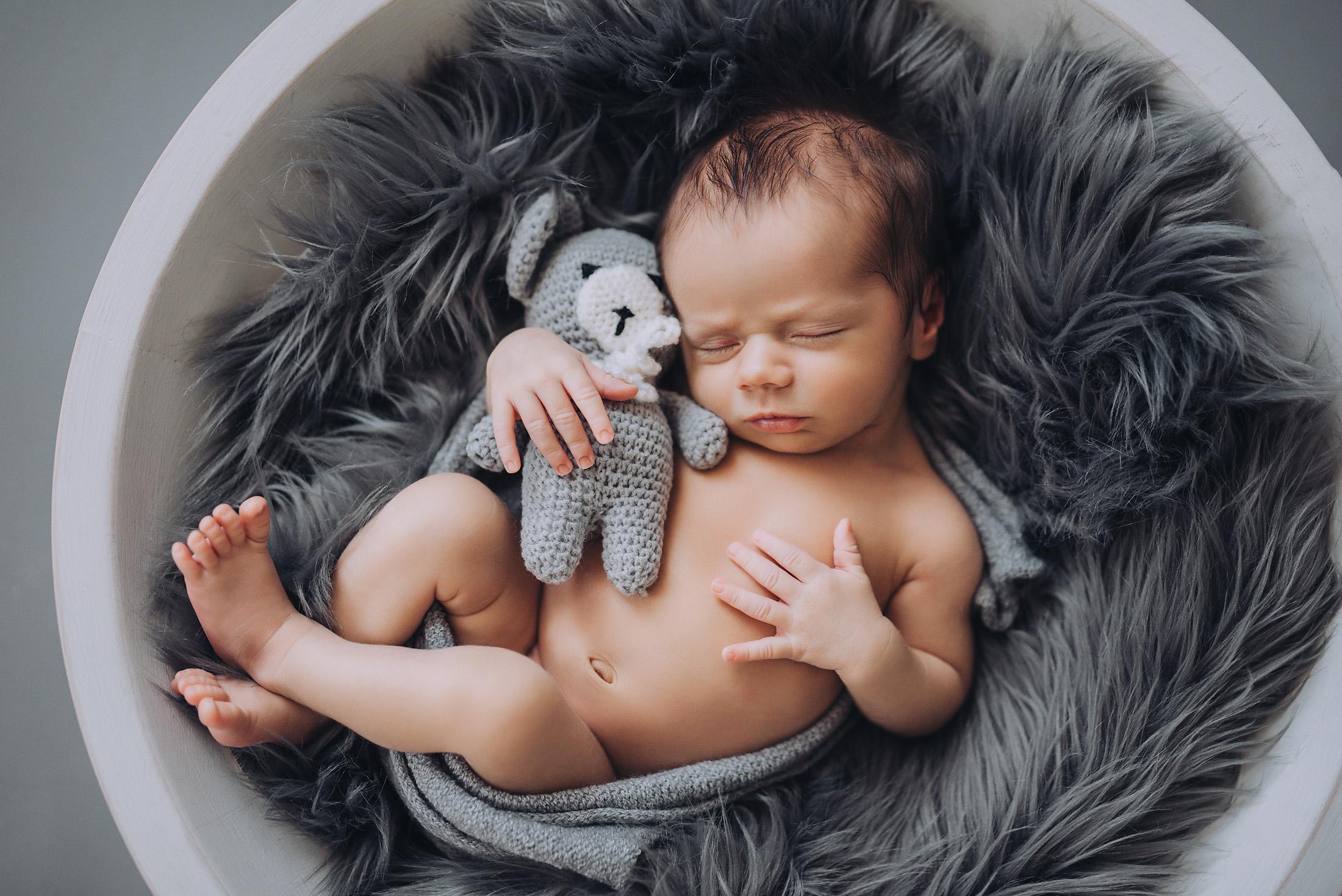 Fotograf dziecięcy Rzeszów, sesja noworodkowa, niemowlęca w Rzeszowie