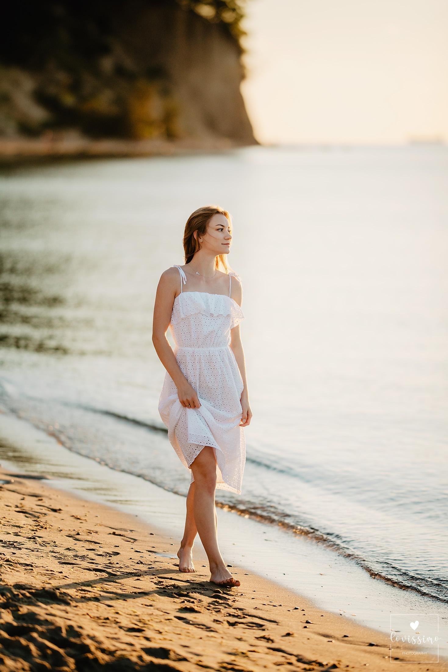 Sesja kobieca portretowa nad morzem, nad Bałtykiem, fotograf Rzeszów